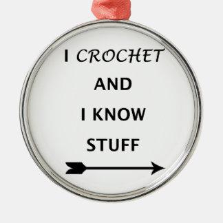 Eu Crochet e eu sei o material Ornamento De Metal