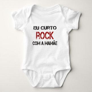 Eu Curto Rock com a mamãe Body Para Bebê