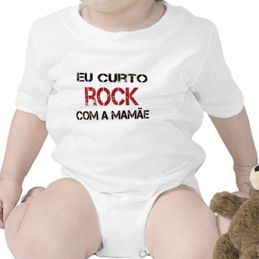 Eu Curto Rock com a mamãe T-shirts