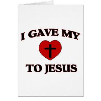 Eu dei o meu (coração) a Jesus Cartões