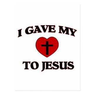 Eu dei o meu (coração) a Jesus Cartão Postal