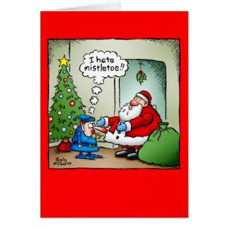 """""""Eu deio cartão de Natal do visco"""""""