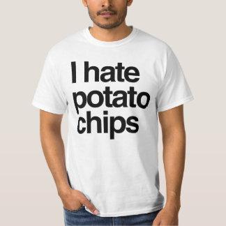 Eu deio microplaquetas de batata camiseta