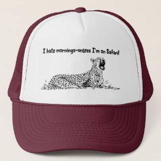 Eu deio o boné do safari das manhãs