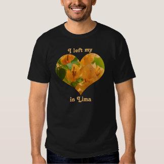 Eu deixei meu Bougainvillea da laranja de Lima Camisetas