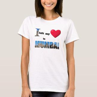 Eu deixei meu coração em Mumbai - ame a camisa do Camiseta