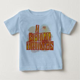 Eu derramo a camisa azul do humor dos bebés das