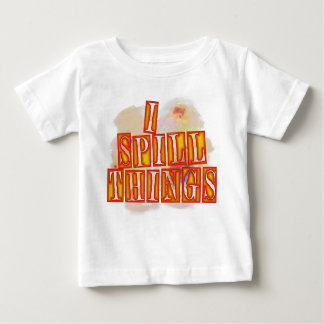 Eu derramo a camisa do humor do bebê das coisas