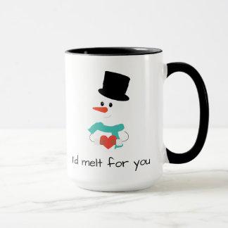 Eu derreteria para você a caneca do boneco de neve