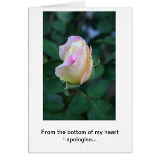 Eu desculpo-me por sua falta da consideração cartão comemorativo