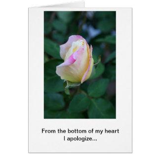 Eu desculpo-me por sua falta da consideração (os cartão comemorativo