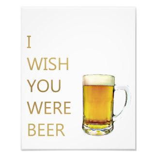 Eu desejo-o onde cerveja foto