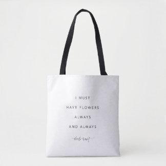 Eu devo ter o bolsa das citações das flores