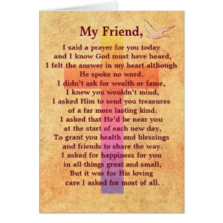 Eu disse uma oração -- cartão inspirado