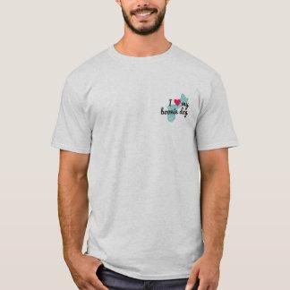 Eu dos homens amo minha camiseta de cão de Boonie