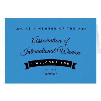 Eu dou-lhe boas-vindas ao AIW Cartão De Nota