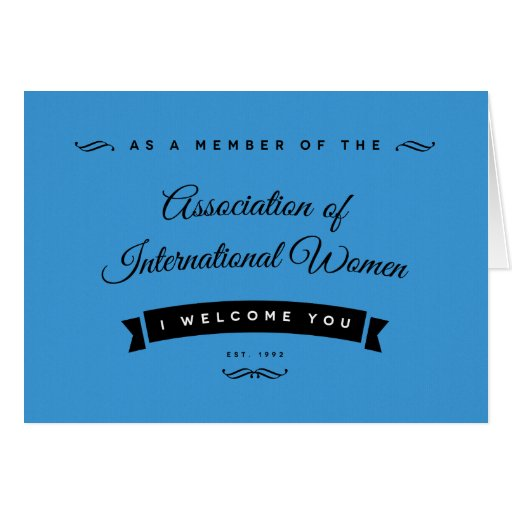 Eu dou-lhe boas-vindas ao AIW Cartão