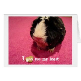 Eu dou-lhe meu cartão do coração