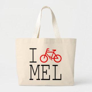 Eu dou um ciclo Melbourne! Sacola Bolsa Tote Grande