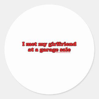 Eu encontrei meu namorada em uma venda de garagem adesivo