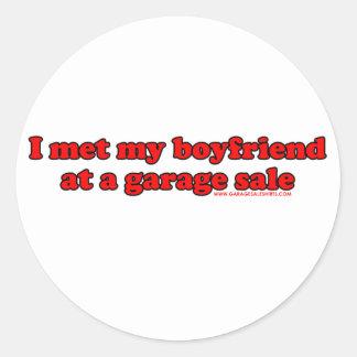 Eu encontrei meu namorado em uma venda de garagem adesivo