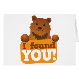 EU ENCONTREI-O urso do piquenique dos ursos de urs Cartão Comemorativo