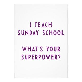 Eu ensino a catequese o que é sua superpotência
