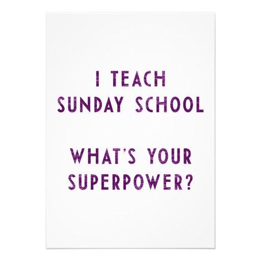 Eu ensino a catequese o que é sua superpotência? convites personalizados