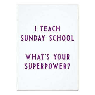 Eu ensino a catequese o que é sua superpotência? convite 12.7 x 17.78cm