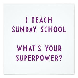 Eu ensino a catequese o que é sua superpotência? convite personalizado