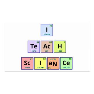 Eu ensino a ciência cartão de visita