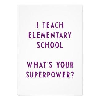 Eu ensino a escola primária o que é sua superpotên