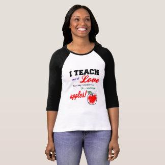 """""""Eu ensino para a camisa das mulheres das maçãs"""""""