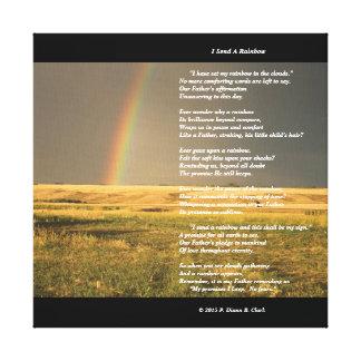 """""""Eu envio impressão das canvas de um arco-íris"""""""