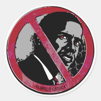 Eu era Anti-Obama antes Adesivos Redondos