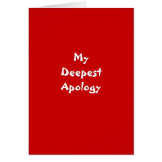 Eu era cartão errado da desculpa
