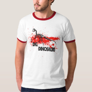 eu escavo dinossauros camiseta
