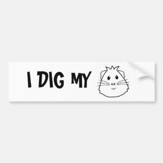 Eu escavo meu porco adesivo para carro