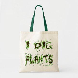 Eu escavo o slogan do jardineiro das plantas bolsa tote