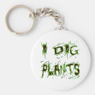 Eu escavo o slogan do jardineiro das plantas chaveiro