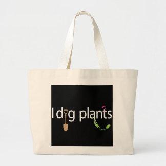 Eu escavo plantas bolsa de lona