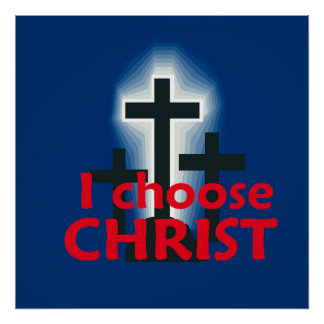 Eu escolho o impressão do POSTER do cristo