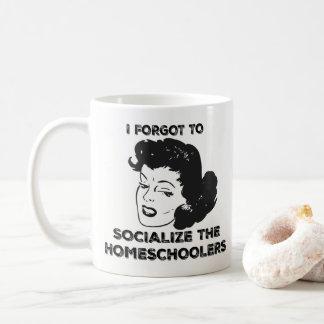 Eu esqueci socializar a caneca de Homeschoolers