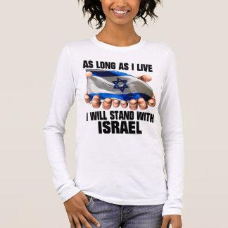 Eu estarei com Israel Camiseta Manga Longa