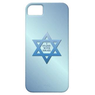 Eu estou com a estrela de David judaica de Israel Capa Barely There Para iPhone 5
