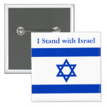 Eu estou com Israel Bóton Quadrado 5.08cm