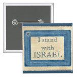Eu estou com Israel Botons