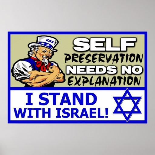 Eu estou com Israel! Pôsteres