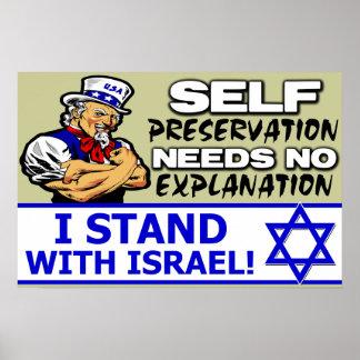 Eu estou com Israel! Impressão