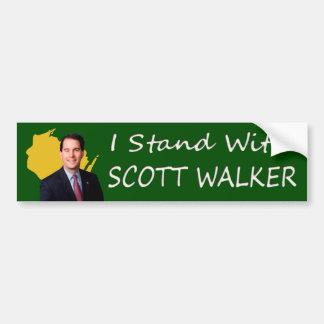 Eu estou com o caminhante de Scott de Wisconsin Adesivos